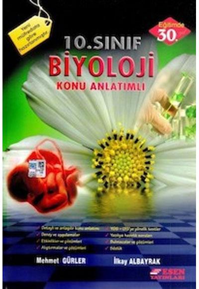 10 Sınıf Biyoloji Konu Anlatımlı Esen Yayınları 9789756913826