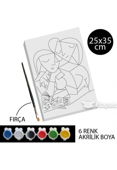 Desenli Tuval Boyama Anne Ve Kizi Tb40 25x35 Kum Toys 86810490502293