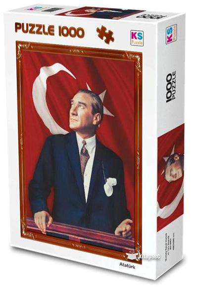 1000 Parça Gazi Mustafa Kemal Atatürk Ve Türk Bayrağı 11207 Ks Games