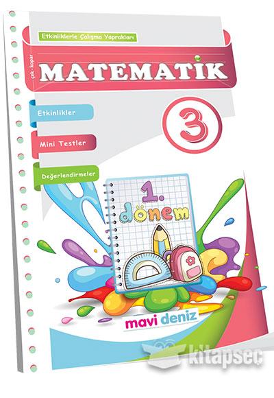3 Sınıf Matematik 1 Dönem Etkinliklerle çalışma Yaprakları Mavi