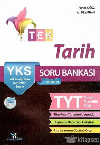 Yks Tyt 1 Oturum Tek Tarih Soru Bankası Yayın Denizi Yayınları