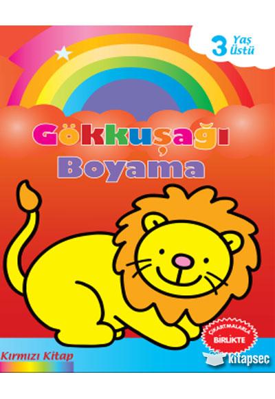 Gökkuşağı Boyama Kırmızı Kitap Parıltı Yayınları 9786051007748