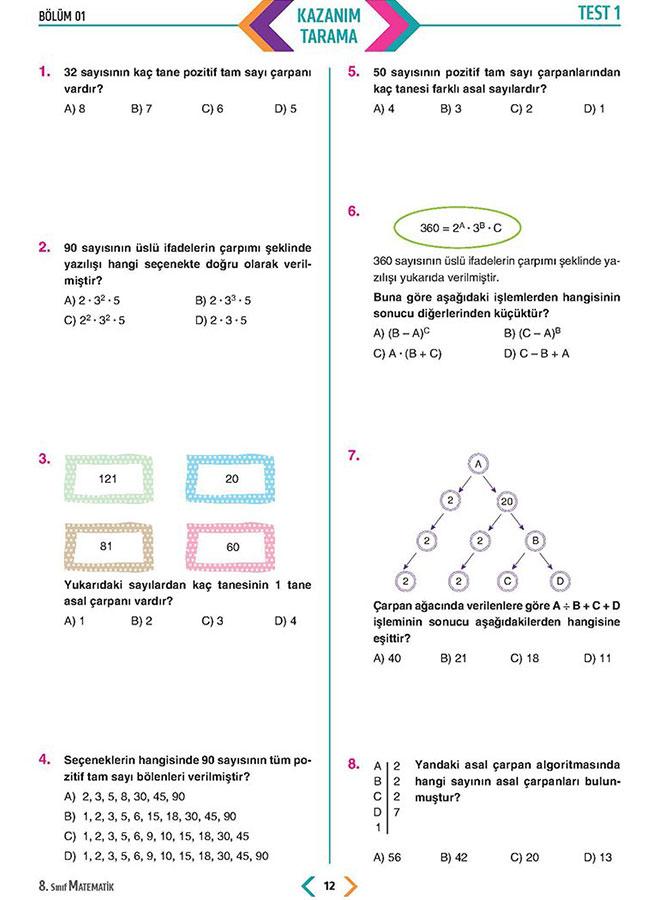 8 Sinif Lgs Muhtesem Matematik Soru Bankasi Seruven Yayinlari